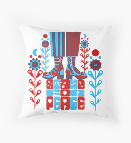 Stand For Peace Throw Pillow