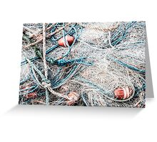 Piled Rope and Net Greeting Card