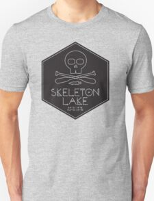 Skeleton Lake (black print) Unisex T-Shirt