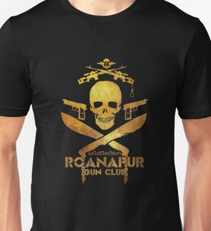 Black Lagoon ROANAPUR GUN CLUB black Unisex T-Shirt
