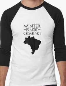 Winter is not Coming - Brazil Men's Baseball ¾ T-Shirt