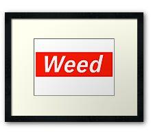 Supreme Weed Framed Print
