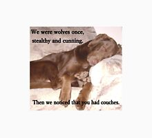 "Chocolate Labrador Puppy ""Wolf"" Is Sleeping On Couch Unisex T-Shirt"