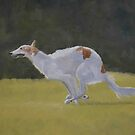 Borzoi Running by Charlotte Yealey