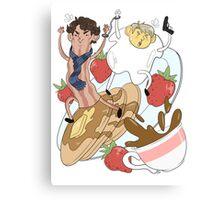 221B Breakfast Street Canvas Print