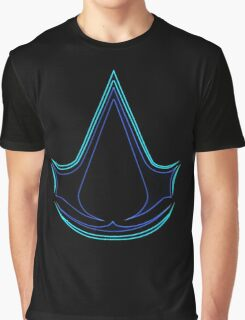 °GEEK°  Assassin's Creed Logo Neon Graphic T-Shirt