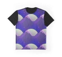 Geometric Moon Pattern Graphic T-Shirt