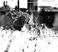 Munich skyline in black watercolor Sticker