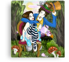 Alice and the Mad Hatter Canvas Print