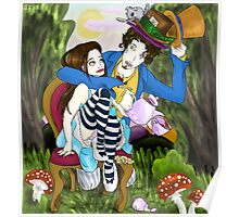 Alice and the Mad Hatter Poster
