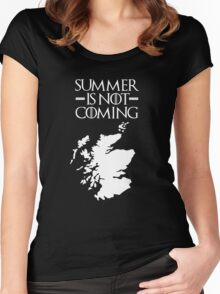 Summer is NOT coming - scotland(white text) Women's Fitted Scoop T-Shirt
