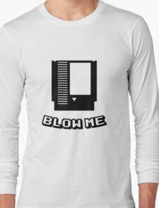 Retro game cartridge Blow me Long Sleeve T-Shirt