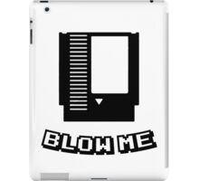Retro game cartridge Blow me iPad Case/Skin