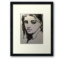 one's eyes Framed Print