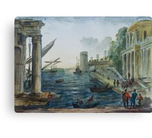 after Claude Lorrain by Edward Scale Canvas Print