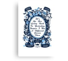Alice In Wonderland. Alice Through The Looking Glass. Canvas Print