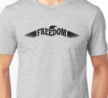 Freedom Eagle Black Unisex T-Shirt
