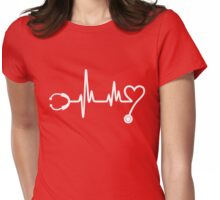 Hearbeat Stethoscope Womens Fitted T-Shirt