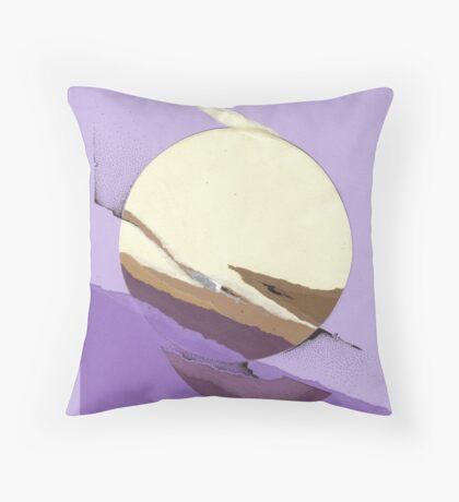 Purple sun Throw Pillow