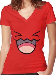 wobbufett pokemon Women's Fitted V-Neck T-Shirt