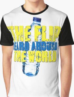 Water Bottle Flip The Flip Heard Around The World Talent Show Vintage Distressed Graphic Graphic T-Shirt