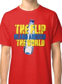 Water Bottle Flip The Flip Heard Around The World Talent Show Vintage Distressed Graphic Classic T-Shirt