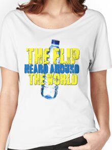 Water Bottle Flip The Flip Heard Around The World Talent Show Vintage Distressed Graphic Women's Relaxed Fit T-Shirt