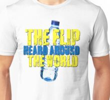 Water Bottle Flip The Flip Heard Around The World Talent Show Vintage Distressed Graphic Unisex T-Shirt
