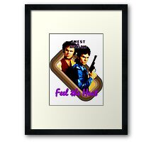 Brock and Chest- Feel the Heat Framed Print