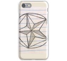 cross hatch star iPhone Case/Skin