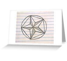 cross hatch star Greeting Card