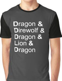 dragon&direwolf&dragon&lion&dragon Graphic T-Shirt