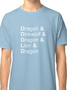 dragon&direwolf&dragon&lion&dragon Classic T-Shirt