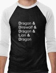 dragon&direwolf&dragon&lion&dragon Men's Baseball ¾ T-Shirt