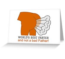 World's Best Father Graphic Design Greeting Card