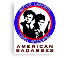 Brock and Chest, American Badasses Canvas Print