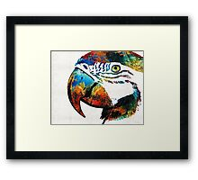 Parrot Head Art By Sharon Cummings Framed Print