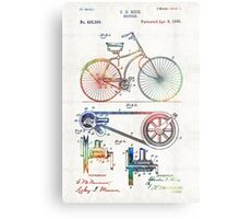 Colorful Bike Art - Vintage Patent - By Sharon Cummings Metal Print