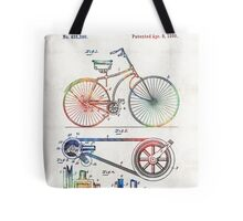 Colorful Bike Art - Vintage Patent - By Sharon Cummings Tote Bag