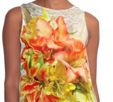 The bride had a lily bouquet Contrast Tank