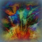Moody Abstract by Sherri Of Palm Springs by Sherri Palm Springs  Nicholas