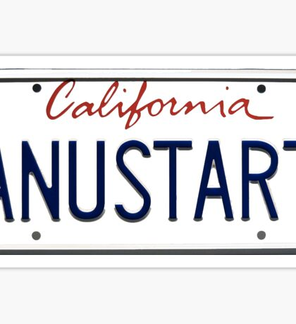 Arrested Development - Tobias Vanity Plate Sticker
