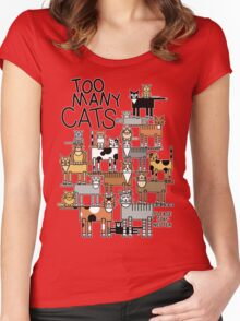 Too Many Cats Women's Fitted Scoop T-Shirt