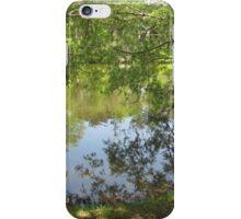 tree branch pond mirror  iPhone Case/Skin