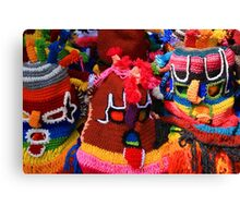Colorful Knit Masks Canvas Print