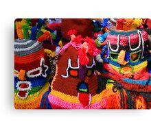 Colorful Knit Masks Canvas Print