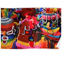 Colorful Knit Masks Poster