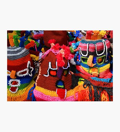 Colorful Knit Masks Photographic Print