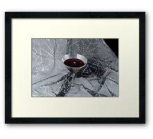 Halloween Vampire drink Framed Print