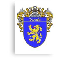 Daniels Coat of Arms/Family Crest Canvas Print